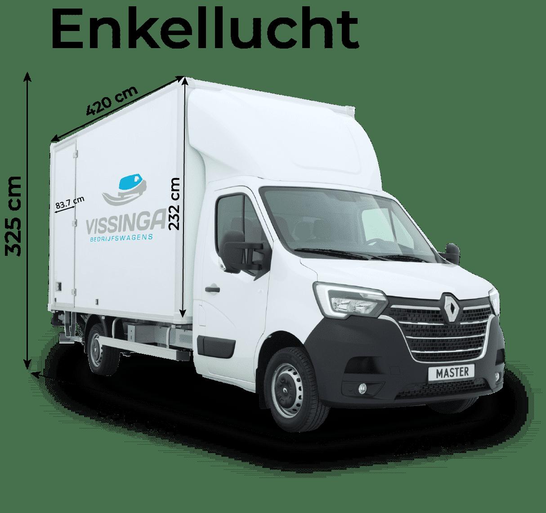 Renault Master bakwagen enkellucht afmetingen